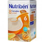 Nutriben Cereales 8 Cereales Miel Galletas Maria 600 g