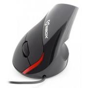 Mouse Verticale Ottico Ergonomico USB 1000DPi Nero