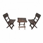 Shilpi Mango Wood Fancy Small Foldable Chair Set Of 2 For Kids