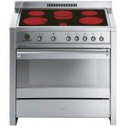 Aragaz SMEG Opera A1C-7, 90X60cm, inductie, 5 zone gatit, cuptor electric, timer, aprindere electronica,inox