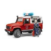 Bruder - land rover pompieri con luci, suoni e pompiere