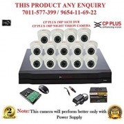 Cp Plus 1.3 MP HD 16CH DVR + Cp plus HD DOME IR CCTV Camera 14Pcs + 1TB HDD +POWER SUPLAY + BNC + DC