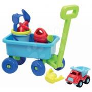 Écoiffier cărucior tractabil cu set pentru nisip 527 albastru