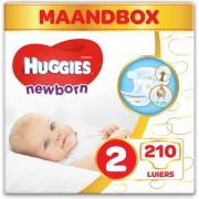 Huggies Newborn luiers - 3 tot 6 kg - Maat 2 - 210 stuks