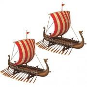 Design Toscano Drekar The Viking Réplica de Museo de Larga duración, Set de 2, Juego de 2, 1