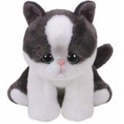 Jucarie plus 15 cm Beanie Babies YANG - black/white cat TY