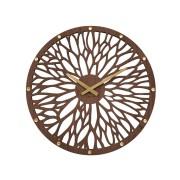 Obrovské impozantní tmavé dřevěné hodiny LAVVU WOOD LCT1180