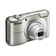Nikon Coolpix A10 Digitale camera, zilverkleurig, 16,1 megapixel, maximale resolutie 4608 x 3456 pixel, zilverkleurig, met accu, laagste ISO-waarde 80, hoogste ISO-waarde 1600, automatische scherpstelling