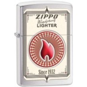 Zippo Classic Trading Cards Brushed Chrome Locking Carabiner(Silver)