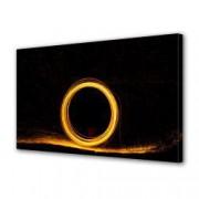 Tablou Canvas Premium Abstract Multicolor Cerc De Foc Decoratiuni Moderne pentru Casa 80 x 160 cm