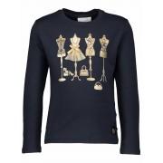Le Chic! Meisjes Shirt Lange Mouw - Maat 110 - Donkerblauw - Katoen/elasthan
