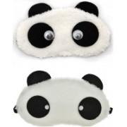 Jonty Round Eyes Panda Travel Sleep Cover Blindfold (Pack of 2) Eye Shade(Multicolor)