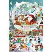 SunsOut Puzzle de 625 Piezas, diseño de Aldea navideña para Todas Las Edades