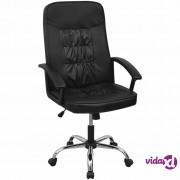 vidaXL Uredska stolica od umjetne kože 67x70cm Crna
