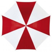 Umbrela Disco White Red