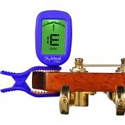 Guitar Tuner Clip En Precisa Cromático, Guitarra Acustica Afinador Violin Bass Banjo Ukelele (azul)