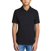 JACK&JONES Plain Boy's Polo Shirt Black