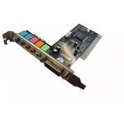 Placa de Sonido Netmak NM-6CH 6 Canales-Negro