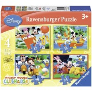 Puzzle clubul lui Mickey Mouse, 4 buc in cutie, 12/16/20/24 piese Ravensburger