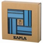 Kapla Byggstavar 40 delar trä blå KAPL172107