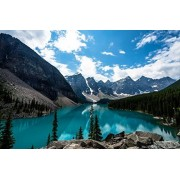 Sim,Handmade Premium Basswood Jigsaw Puzzle 1000 Piece Bright Color Famouse Painting 29.5 X 19.6 inch Nobleness Present in Box Present-Wrap : Emerald Moraine Lake