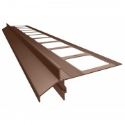 K40 Profil aluminiowy balkonowy i tarasowy 2.0m brązowy RAL 8019- listwa balkonowa okapnikowa brązowa