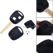 Auto Vervanging 2 Knoppen Afstandsbediening Sleutelhanger Case Shell Toyota Yaris Rubber Pad Switch Blade Reparatie Afstandsbediening Klep accessoires