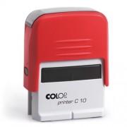 Szövegbélyegző Printer C10 piros ház 10x27 mm