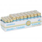 Grundig Batterijen voordeelpakket AA en AAA 36 stuks alkaline