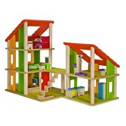 Plan Toys Plandollhouse Chalet Dollhouse with Furniture
