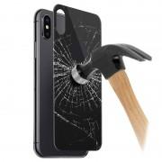 Protector de Tampa de Bateria em Vidro Temperado 5D para iPhone X / iPhone XS - Preto