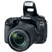 "Canon EOS 80D в комплект с обектив Canon EF-S 18-135mm f/3.5-5.6 IS Nano USM, прахоустойчив, 24.2Mpix, 3.0""(7.62cm) LCD Display, FullHD Video, Wi-Fi/NFC, microUSB, micro HDMI, SDXC (UHS-I) слот, гнездо за слушалки"