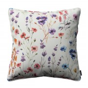Dekoria Poszewka Gabi na poduszkę, kolorowe kwiaty na kremowym tle, 60 × 60 cm, Flowers