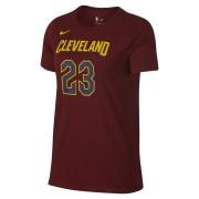 Tee-shirt de NBA LeBron James Cleveland Cavaliers Nike Dry pour Femme - Rouge