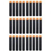 (Pack of 30) Black Bullet Foam Dart Bullets for Nerf N-Strike Elite Guns