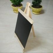 EH Tablero De Mensaje De Madera De La Pizarra 24 * 13cm Con El Soporte De Madera Ajustable Duradero - Color Negro Y Madera