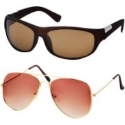 Freny Exim Aviator, Sports Sunglasses(Brown, Orange)