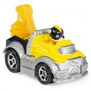 Macheta metalica Paw Patrol - Rubble super erou cu masina utilitara, True Metal