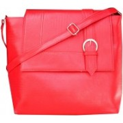 HD Women And Girl Casual Red Pu Sling Bag Red Sling Bag