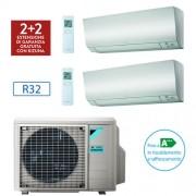 Daikin Climatizzatore Daikin Bluevolution Dual Split Perfera Inverter 9000+12000 Btu / 2mxm50m Gas R32 + Staffe