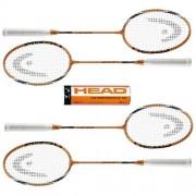 Set badminton 4 rachete cu fluturasi Family