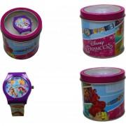 Disney orologio da polso principesse per bambine in scatola di latta ds0561828