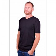 Alan Red T-Shirt V-Hals Oklahoma Black (Two Pack) - Zwart - Size: Large