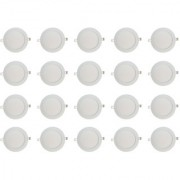 Bene LED 12w Round Slim Panel Ceiling Light Color of LED Warm White (Yellow) (Pack of 20 Pcs)
