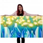 Ölgemälde Vasen, 100% handgemaltes Wandbild Gemälde XL, 135x70cm ~ Variantenangebot