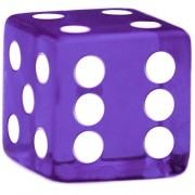 Purple Dice - 19 mm