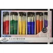 Royal Brush RCVP-108 Classroom Value Pack Round Brushes Assorted Size