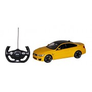 Toyhouse Officially Licensed Rastar BMW M4 Coupe 1:14 Scale Model Car, Yellow