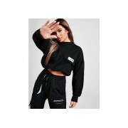 Sixth June Crop Crew Sweater - Black