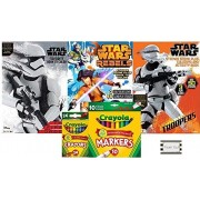 Star Wars Sticker Scene Plus Coloring and Activity Books with Over 100 Stickers, 6 Sticker Scenes, 24ct Crayola...